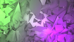 Abstract block shapes in green and pink hue Footage