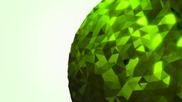 Rotating reflective green orb Footage