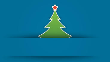 Christmas tree digital greeting card design element After Effects Project