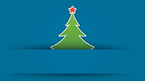 Christmas tree digital greeting card design element After Effects Template