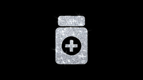 Medicine Health Care Icon Shining Glitter Loop Blinking Particles Live Action