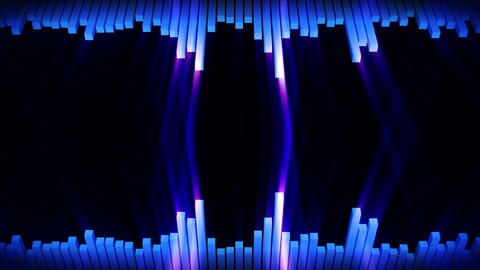 Audio blue wave animation. Sound wave from equalizer. Pulse music player. Futuristic digital sound CG動画