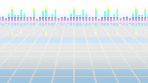 Colorful sound waves for party. Disco background. Abstract colorful wave pattern. Loop animation of CG動画