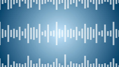 Music wave lines. Sound wave from equalizer. Digital pulse wave concept. Futuristic loop on light CG動画