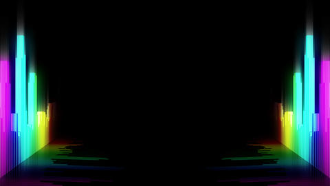 Audio colorful wave animation. Sound wave from equalizer. Pulse music player. Futuristic digital CG動画