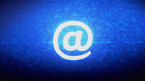 E mail, Email, Email, Inbox, Mail, Message Symbol Digital Pixel Noise Error Live Action