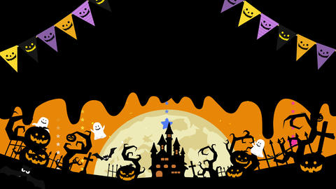 Halloween illustration with copyspace. Melted space for... Stock Video Footage