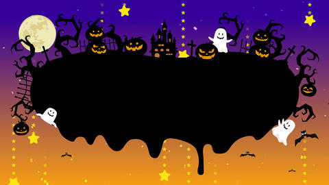 Halloween illustration with copyspace. Melted space for creative design. Liquid drop flows on Animation
