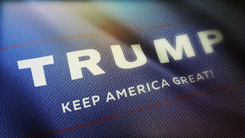 Flag vote for Trump - Keep America Great 3 Live Action