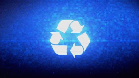 Triangular Arrows Recycle Symbol Digital Pixel Noise Error Animation Live Action