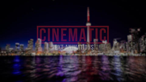 Cinematic Text Animations 2 Premiere Proエフェクトプリセット