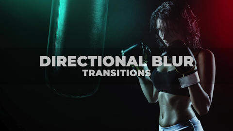 Directional Blur Transitions Plantilla de Apple Motion