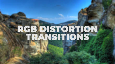 RGB Distortion Transitions Premiere Proエフェクトプリセット