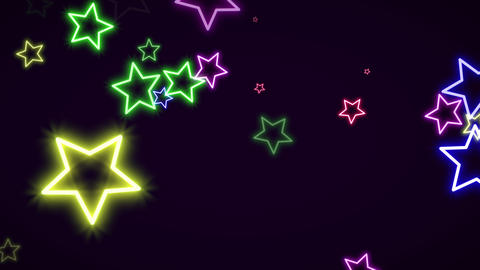 Motion retro stars abstract background Animation