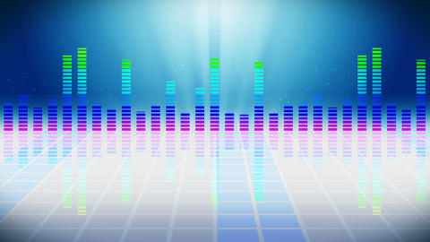 Colorful sound waves for party. Disco background.… Stock Video Footage