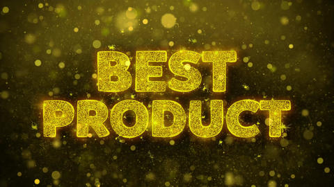 Best Product Text on Golden Glitter Shine Particles Animation Live Action