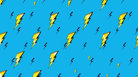 Motion Retro Thunderbolt Abstract Background Animation