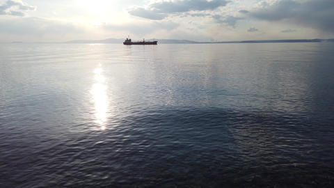 Seascape with a view of the ships. Vladivostok, Russia Live Action