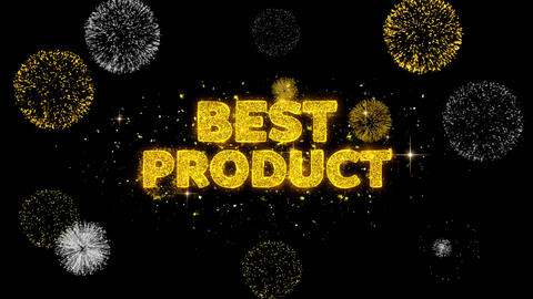 Best Product Text Reveal on Glitter Golden Particles Firework GIF