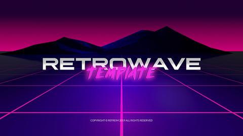 Retrowave Logo Reveal Premiere Pro Template
