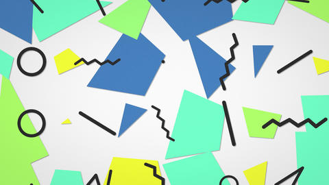 Motion retro geometric shape abstract background Animation