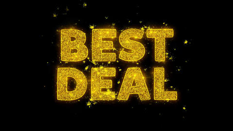Best Deal Text Sparks Particles on Black Background Live Action