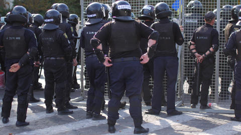 Special police units for protection at demonstrations and rallies Live Action