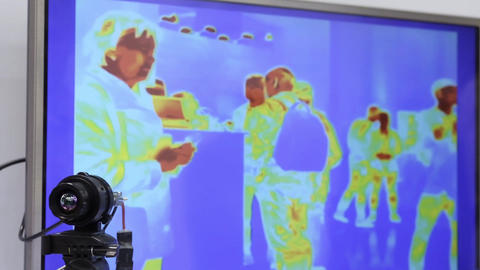 thermal imaging unit under processing, modern technology details Footage