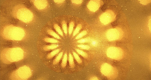 Geometric golden background with spotlights. Golden foil… Stock Video Footage
