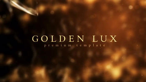 Golden Lux After Effects Template