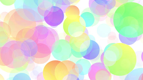 Colorful Particles white background loop V Animation