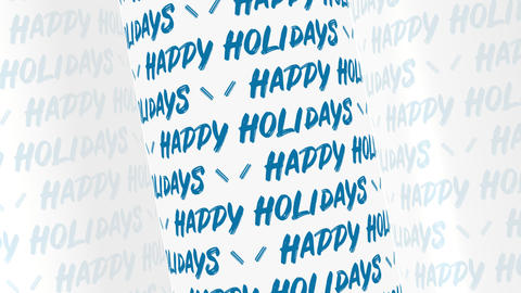 Happy Holidays Text Background Animation
