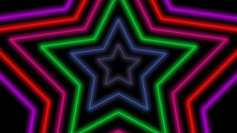 Motion retro stars abstract background Videos animados