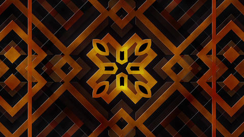 Golden Brown Art Deco Styles Frames Moving As Abstract Shapes Looping Background Animation