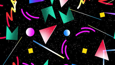 Motion retro geometric shape abstract background Videos animados