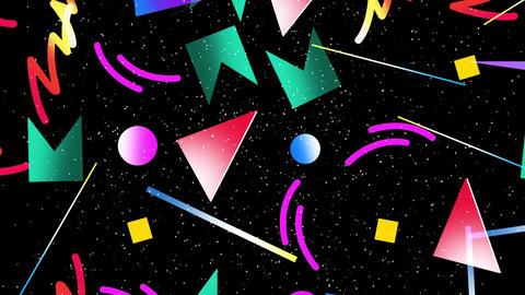 [alt video] Motion retro geometric shape abstract background