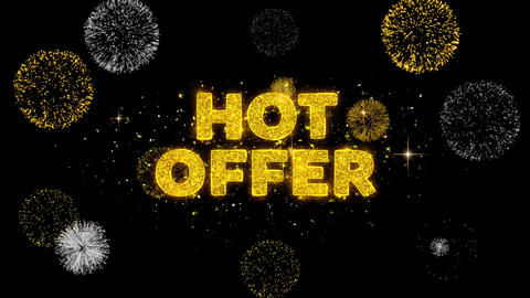 Hot Offer Text Reveal on Glitter Golden Particles Firework Live Action