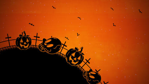 Halloween background animation with the coffins,... Stock Video Footage