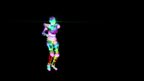 Colorful Robot House Dancing Looping Video Animation