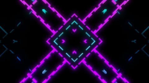 Cool Abstract Looping Visual With Brightly Colored Lines Forming Patterns Animation