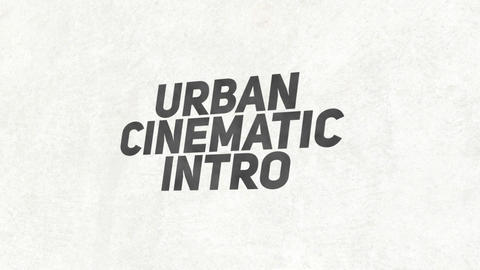 Urban Cinematic Intro After Effectsテンプレート