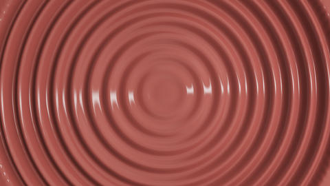 Top view of wavy animation of melted chocolate Animation