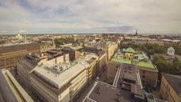 Panoramic aerial view of Helsinki city, capital of Finland Live Action