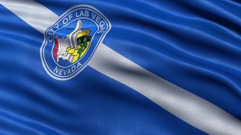 Las Vegas flag seamless loop Animation