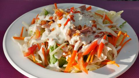 Tuna salad Footage