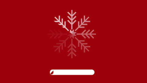 Snow Christmas Loading bar design element HUD After Effects Template