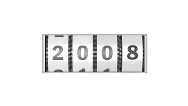 Roller calendar counting year design element for intro in white After Effects Project