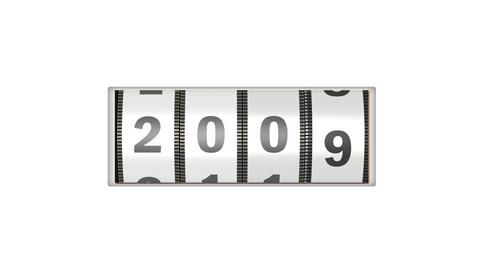 Roller calendar counting year design element for intro in white After Effects Template