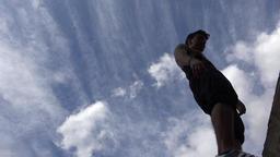Parkour Teen Jump And Backflip Footage