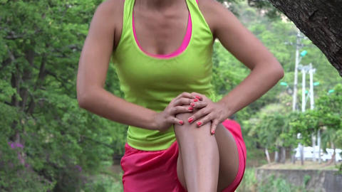 Fit Woman Stretching And Exercising Live Action